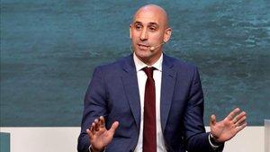 Rubiales defendió la Supercopa en Arabia Saudí