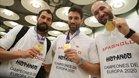 Sarmiento, Goñi y Cañellas, luciendo sus medallas de oro