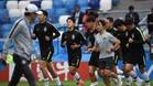 La selección de Corea, en un entrenamiento