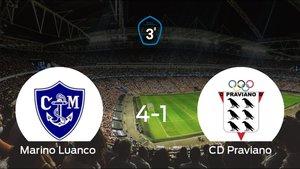 Sólido triunfo para el equipo local: Marino Luanco 4-1 Praviano