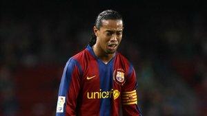 La última temporada sin títulos puso fin a la etapa de Ronaldinho en el FC Barcelona