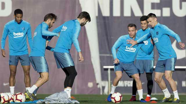 Último entrenamiento antes de viajar a Sevilla