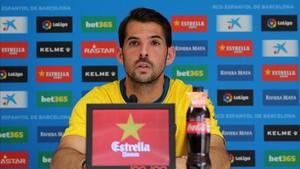 Víctor Sánchez compareció ante los medios en la Ciutat Esportiva