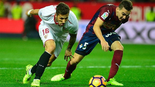 Video resumen Sevilla 2- Eibar 0 (2-0). Jornada 23, Liga Santander 2016-17