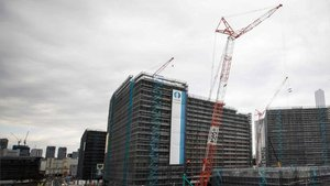 La villa olímpica de Tokio, en construcción