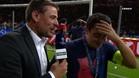 Xavi, emocionado tras su último partido con el Barça