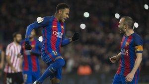 Andrés Iniesta no ve a Neymar otra vez en el Barça