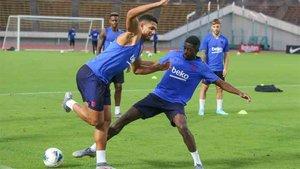 Araujo se entrenó con el primer equipo