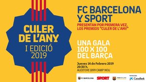 El Barça y SPORT lanzan la Gala Culé del año