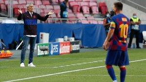 El ciclo de Quique Setién en el Barça puede haber llegado a su fin