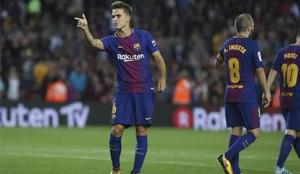Denis Suárez celebró de esta manera su gol