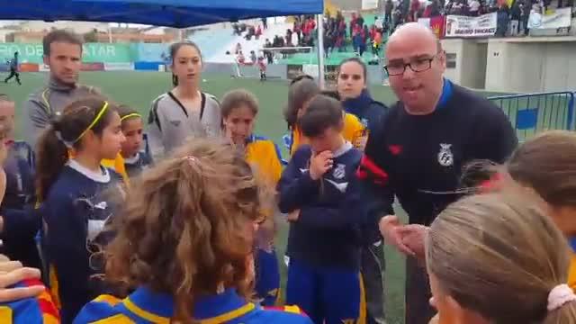 El discurso motivador de Menchi a la Selección Valenciana U12 femenina