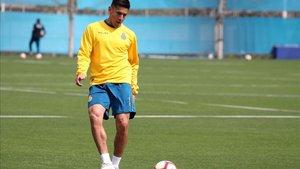Duarte durante una sesión de entrenamiento