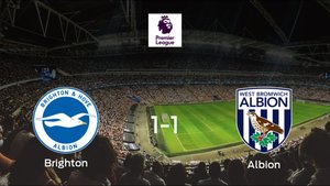Empate a uno entre el Brighton and Hove Albion y el West Bromwich Albion