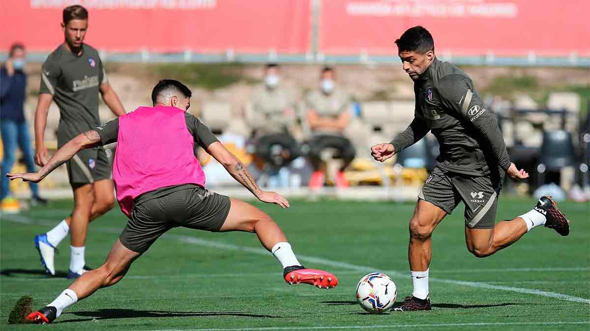 El entrenamiento de Suárez en el día después de su debut soñado con el Atlético
