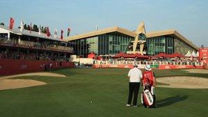 La espectacular casa club del Abu Dhabi Golf Club