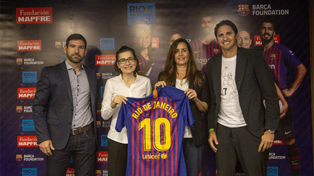 La Fundación Barça extiende su exitoso programa de prevención de violencia en Brasil