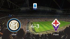 El Inter suma tres puntos a su casillero tras ganar a la Fiorentina (4-3)