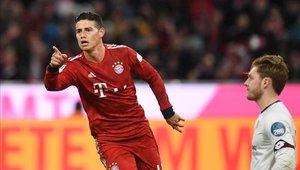 James Rodríguez ha sufrido varias lesiones desde que llegó al Bayern de Múnich