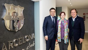 Josep Maria Bartomeu, Margarita Arboix y Gabriel Masfurroll