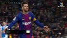 Messi volvió a sorprender con un genial lanzamiento de falta