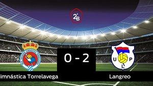 El Langreo se lleva tres puntos a casa al vencer Gimnástica Torrelavega