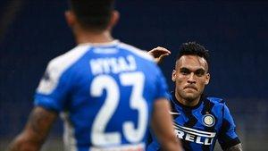 Lautaro Martínez anotó un gol de bella factura para dar el triunfo al Inter.