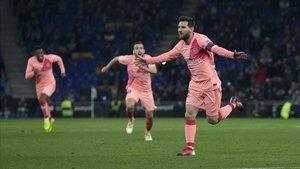 Leo Messi lidera la tabla de goleadores tras su doblete en el RCD Stadium