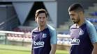 Leo Messi luce nuevo 'look' en la vuelta a los entrenamientos