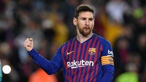 Leo Messi ha marcado el 2-1 de penalti