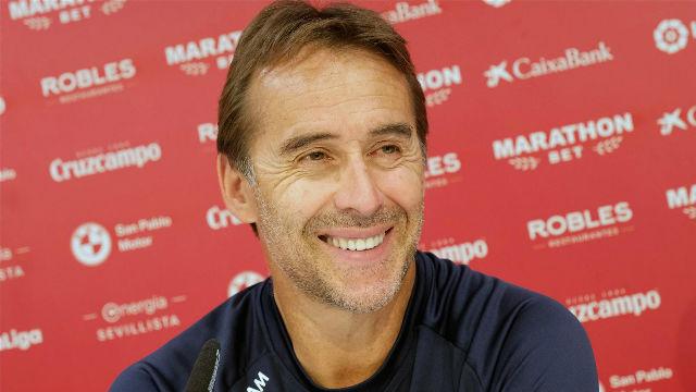 Lopetegui valora el liderato provisional del Sevilla