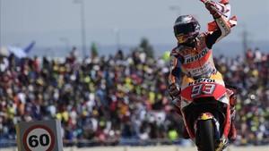 Márquez ha ganado los dos últimos años en Aragón