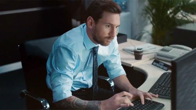 Messi como nunca lo habías visto en su nuevo anuncio