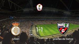 Reparto de puntos entre el Real Unión de Irún y el Arenas de Getxo (1-1)