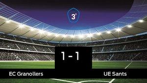 El Sants saca un punto al EC Granollers a domicilio 1-1