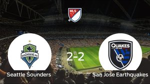 El Seattle Sounders empató frente al San Jose Earthquakes (2-2)