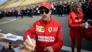 Sebastian Vettel, en el circuito de Shanghai