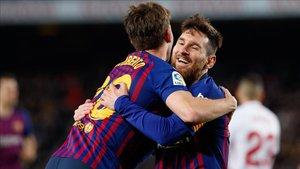 Sergi Roberto elogió el partido de Leo Messi
