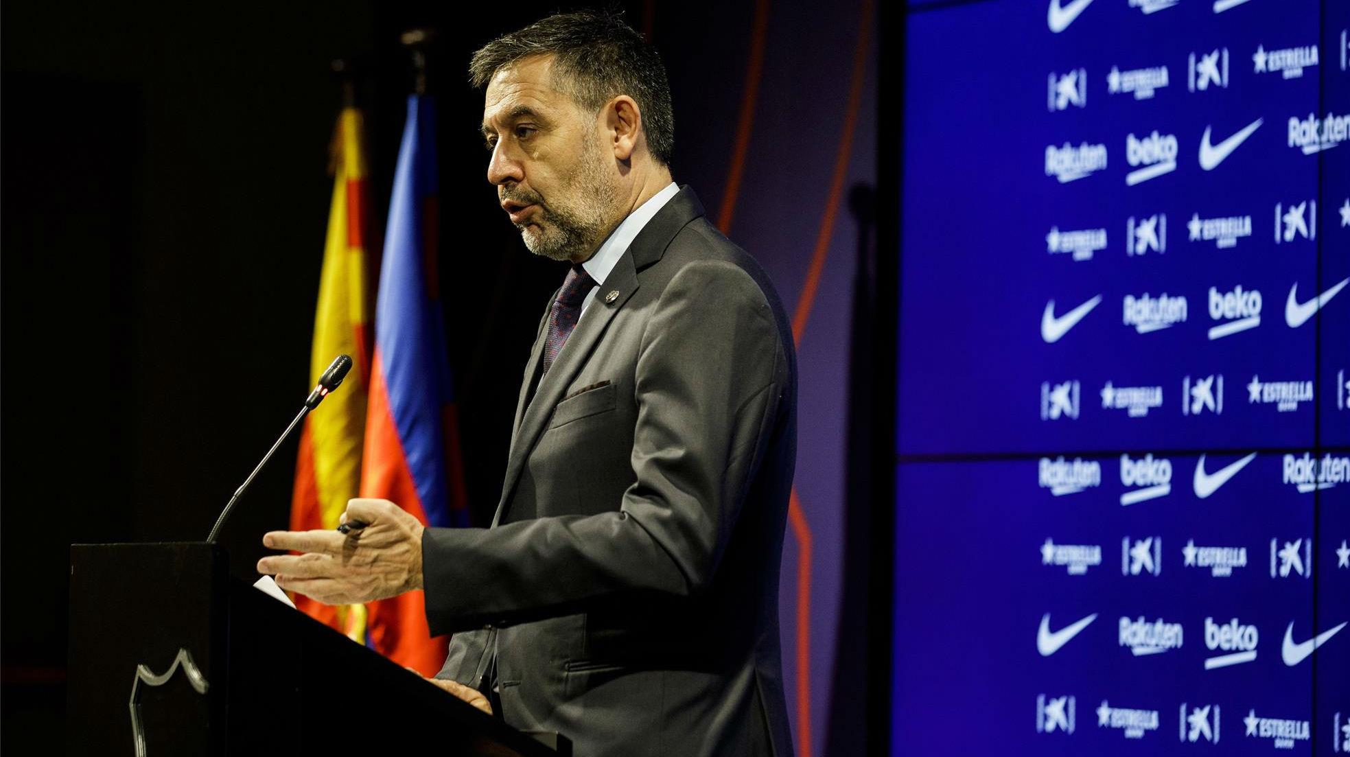 Sigue en directo la rueda de prensa de Josep Maria Bartomeu