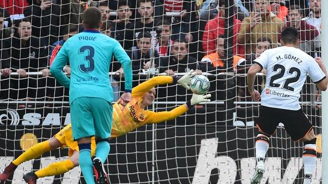 Ter Stegen para su sexto penalti con la camiseta del Barça
