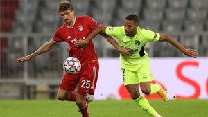 Thomas Müller, en una acción durante el Bayern-Atlético