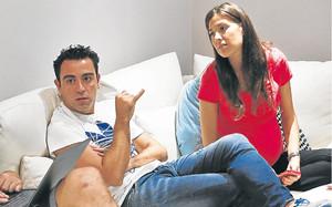 Xavi Hernández y Núria Cunillera, padres por primera vez