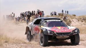 Sainz, durante la 11ª etapa del Rally Dakar