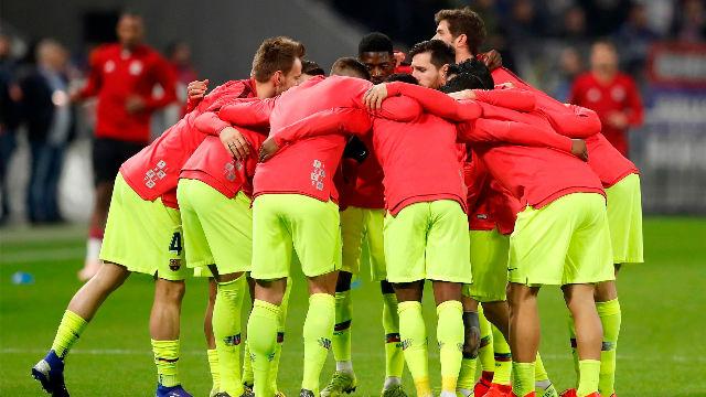 El 1x1 del Barça ante el Lyon en la primera parte