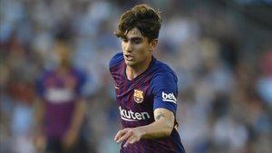 Álex Collado debutó con el FC Barcelona en LaLiga ante el Celta