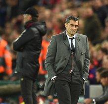 En el banquillo de Anfield tras perder con el Liverpool y caer eliminado en las semifinales de la Champions League 2018/2019