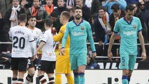 El Barça sufrio su cuarta derrota a domicilio en Mestalla