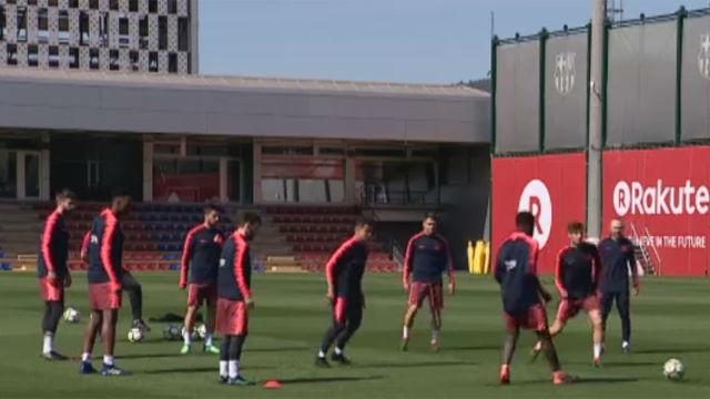 El FC Barcelona preparó el partido contra el Celta