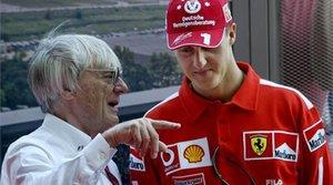 Bernie Ecclestone y Michael Schumacher en una imagen de archivo