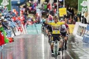 El ciclista esloveno Primoz Roglic del equipo Jumbo-Visma